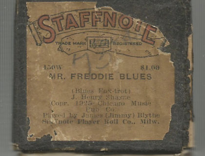 ddie Blues - the only known solo recording by Blythe for the Billings Roll Co. (as James 'Jimmy')