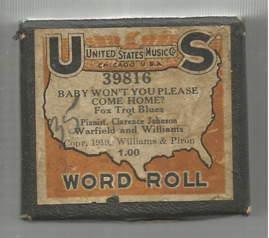 """Clarence """"Jelly"""" Johnson Player Piano Rolls Part 1 – Jazz"""